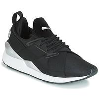 Sapatos Mulher Sapatilhas Puma WN MUSE SATIN II.BLACK Preto