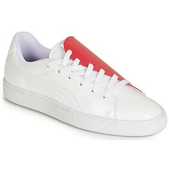 Sapatos Mulher Sapatilhas Puma WN BASKET CRUSH.WH-HIBISCU Branco