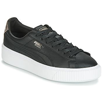 Sapatos Mulher Sapatilhas Puma WN SUEDE PLATFM OPULENT.BL Preto