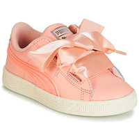 Sapatos Rapariga Sapatilhas Puma PS BASKET HEART JELLY.PEAC Rosa