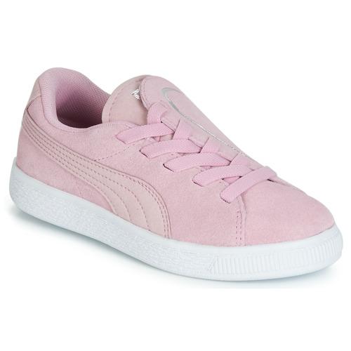 Sapatos Rapariga Sapatilhas Puma PS SUEDE CRUSH AC.LILAC Lilás