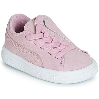 Sapatos Rapariga Sapatilhas Puma INF SUEDE CRUSH AC.LILAC Lilás