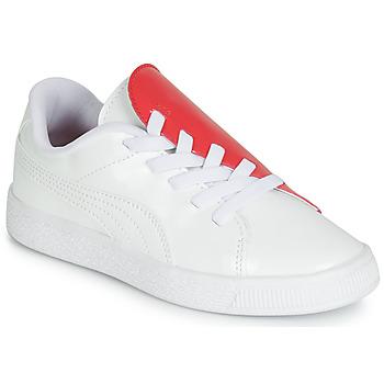 Sapatos Rapariga Sapatilhas Puma PS BKT CRUSH PATENT AC.W-H Branco