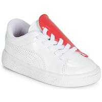 Sapatos Rapariga Sapatilhas Puma INF B CRUSH PATENT AC.W-H Branco