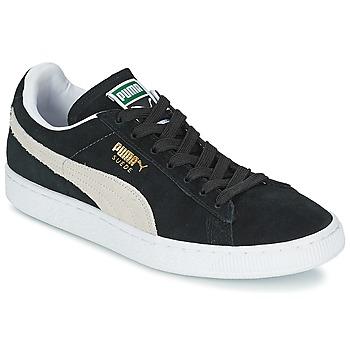 Sapatos Sapatilhas Puma SUEDE CLASSIC Preto / Branco