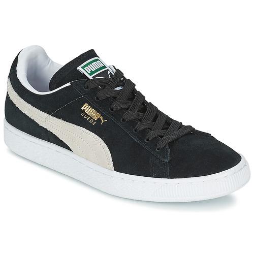 Puma SUEDE. 86.00. Sapatos Sapatilhas Puma SUEDE CLASSIC Preto / Branco ...