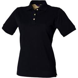Textil Mulher Polos mangas curta Henbury HB121 Marinha