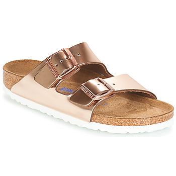 Sapatos Mulher Chinelos Birkenstock ARIZONA SFB Ouro