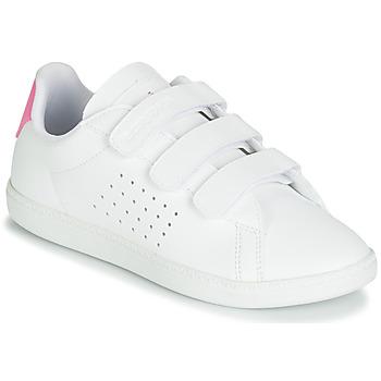 Sapatos Rapariga Sapatilhas Le Coq Sportif COURTSET PS Branco / Rosa
