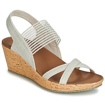 Sapatos Mulher Sandálias Skechers BEVERLEE Bege