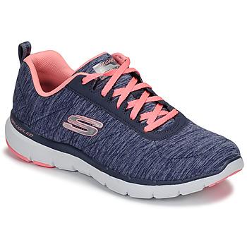 Sapatos Mulher Fitness / Training  Skechers FLEX APPEAL 3.0 Marinho / Rosa