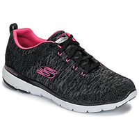 Sapatos Mulher Fitness / Training  Skechers FLEX APPEAL 3.0 Preto / Rosa