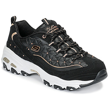 Sapatos Mulher Sapatilhas Skechers D'LITES GLAMOUR FEELS Preto