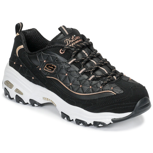 Sapatos Mulher Sapatilhas Skechers D'LITES GLAMOUR FEELS Preto