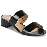 Sapatos Mulher Chinelos Betty London BAMALEA Preto / Verniz