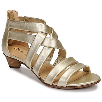 Sapatos Mulher Sandálias Clarks MENA SILK Champanhe