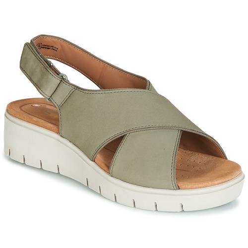 Sapatos Mulher Sandálias Clarks UN KARELY SUN Verde