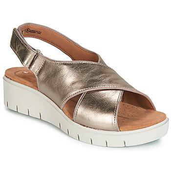 Sapatos Mulher Sandálias Clarks UN KARELY SUN Ouro