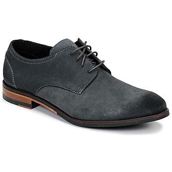 Sapatos Homem Sapatos Clarks FLOW PLAIN Cinza