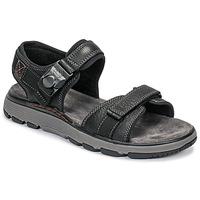 Sapatos Homem Sandálias Clarks UN TREK PART Preto
