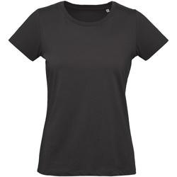 Textil Mulher T-Shirt mangas curtas B And C Inspire Preto