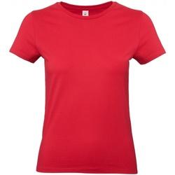 Textil Mulher T-Shirt mangas curtas B And C E190 Vermelho