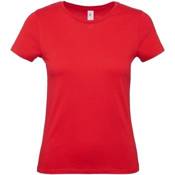 Textil Mulher T-Shirt mangas curtas B And C E150 Vermelho