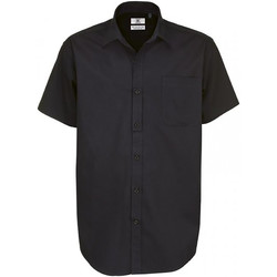 Textil Homem Camisas mangas curtas B And C Sharp Preto