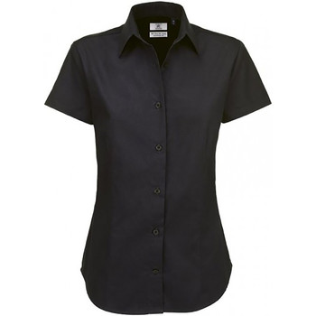 Textil Mulher camisas B And C SWT84 Preto
