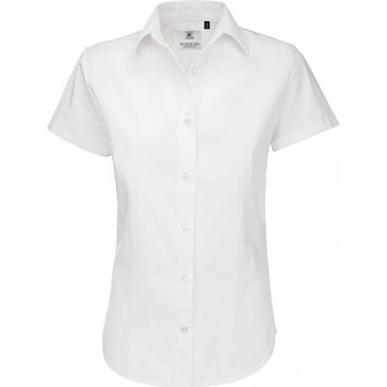 Textil Mulher camisas B And C SWT84 Branco