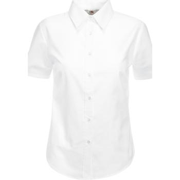 Textil Mulher camisas Fruit Of The Loom 65000 Branco