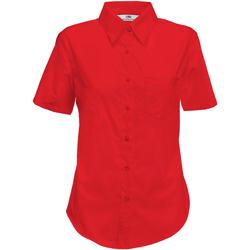 Textil Mulher camisas Fruit Of The Loom 65014 Vermelho
