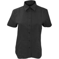 Textil Mulher camisas Kustom Kit KK360 Preto