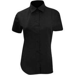 Textil Mulher camisas Kustom Kit KK728 Preto