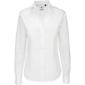 Textil Mulher camisas B And C SWT83 Branco