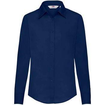 Textil Mulher camisas Fruit Of The Loom 65012 Marinha
