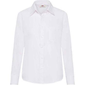 Textil Mulher camisas Fruit Of The Loom 65012 Branco