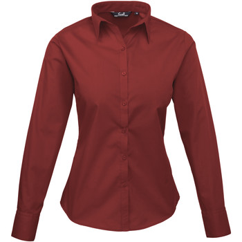 Textil Mulher camisas Premier PR300 Borgonha