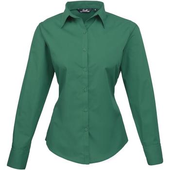 Textil Mulher camisas Premier PR300 Esmeralda