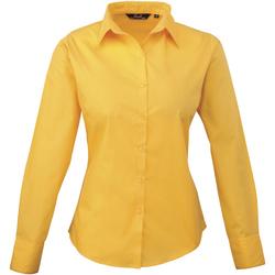Textil Mulher camisas Premier PR300 Girassol
