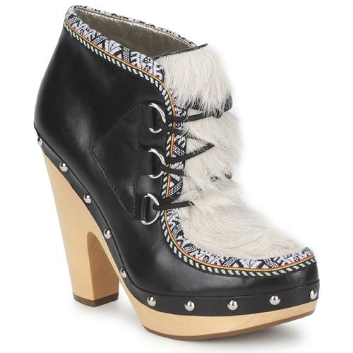 Sapatos Mulher Botas baixas Belle by Sigerson Morrison BLACKA Bege / Preto