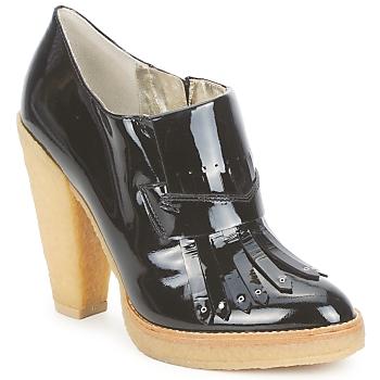 Sapatos Mulher Botas baixas Belle by Sigerson Morrison SHEEP Preto / Pedra