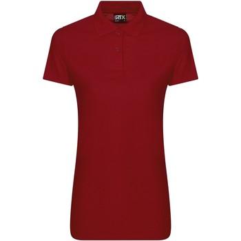 Textil Mulher Polos mangas curta Pro Rtx RX05F Vermelho
