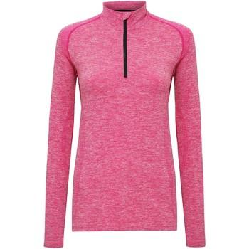 Textil Mulher T-shirt mangas compridas Tridri TR205 Pink