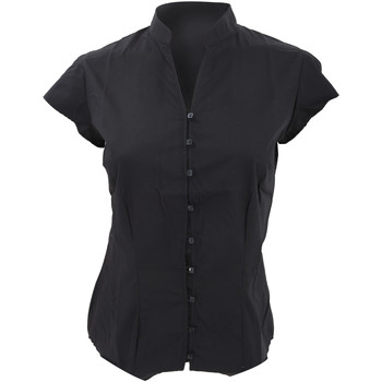 Textil Mulher camisas Kustom Kit KK727 Preto