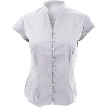 Textil Mulher camisas Kustom Kit KK727 Branco