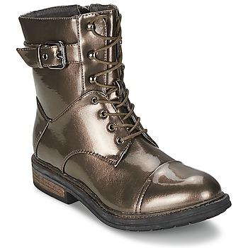 Sapatos Mulher Botas baixas Les P'tites Bombes STONE Prateado
