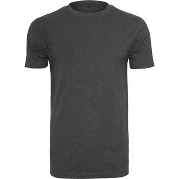 Textil Homem T-Shirt mangas curtas Build Your Brand BY004 Carvão vegetal