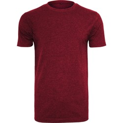 Textil Homem T-Shirt mangas curtas Build Your Brand BY004 Borgonha