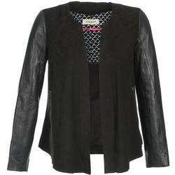 Textil Mulher Casacos de couro/imitação couro Naf Naf COCOTTE Preto